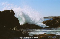 Beach, Splash, Ocean, 35mm, Rocks by Garrett Graham 